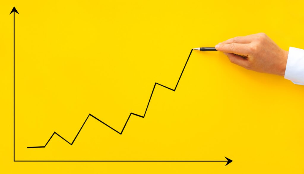 chart depicting sales growth