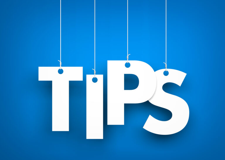 Tips - word hanging on rope