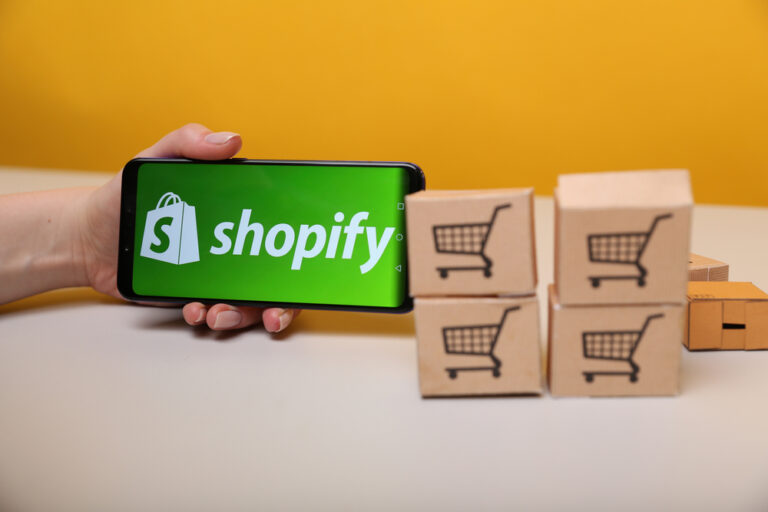 Shopify on the phone display
